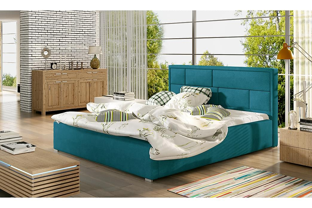 Leganiel Sengeramme 200x200 cm - Blå - Møbler - Senger - Sengeramme & sengestamme
