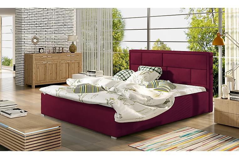 Leganiel Sengeramme 200x200 cm - Rød - Møbler - Senger - Sengeramme & sengestamme