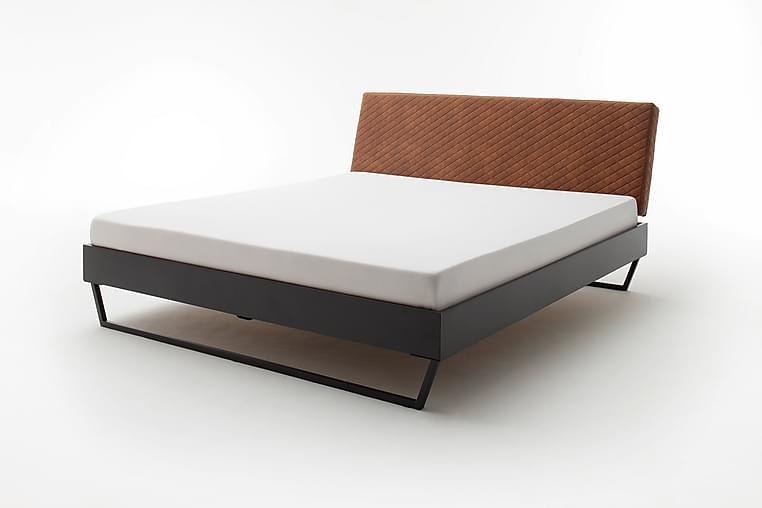 Sengeramme 140x200 cm Kunstlær Metall Konjakk - Møbler - Senger - Sengeramme & sengestamme