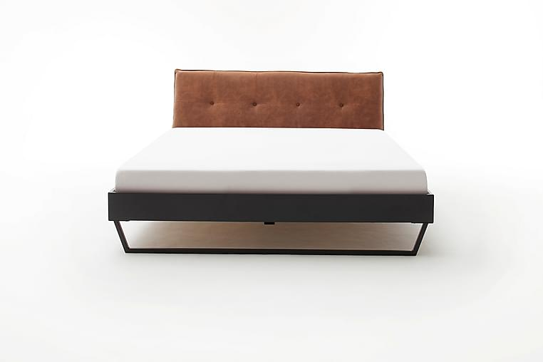 Sengeramme 160x200 cm Kunstlær Metall Konjakk - Møbler - Senger - Sengeramme & sengestamme