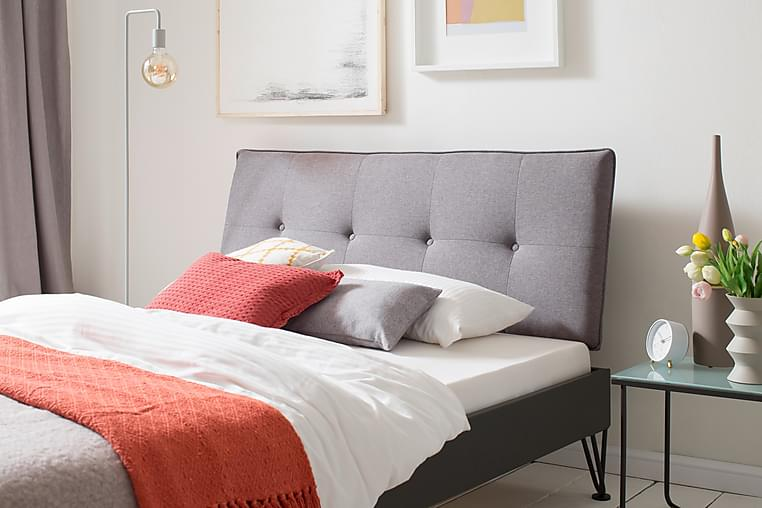 Sengeramme 180x200 cm Metall Lysegrå - Møbler - Senger - Sengeramme & sengestamme