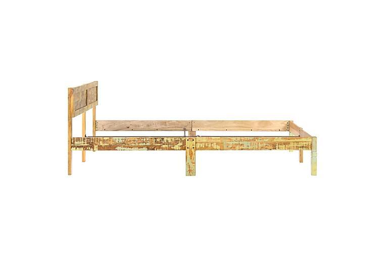 Sengeramme gjenvunnet heltre 180x200 cm - Brun - Møbler - Senger - Sengeramme & sengestamme