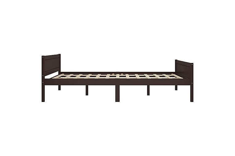 Sengeramme heltre furu mörkebrun 140x200 cm - Møbler - Senger - Sengeramme & sengestamme