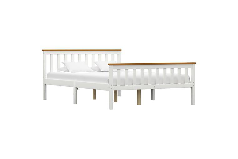 Sengeramme hvit heltre furu 140x200 cm - Møbler - Senger - Sengeramme & sengestamme
