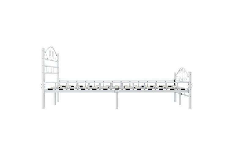 Sengeramme hvit metall 120x200 cm - Møbler - Senger - Sengeramme & sengestamme