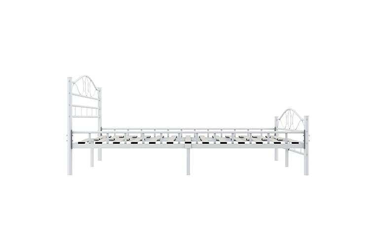 Sengeramme hvit metall 140x200 cm - Møbler - Senger - Sengeramme & sengestamme