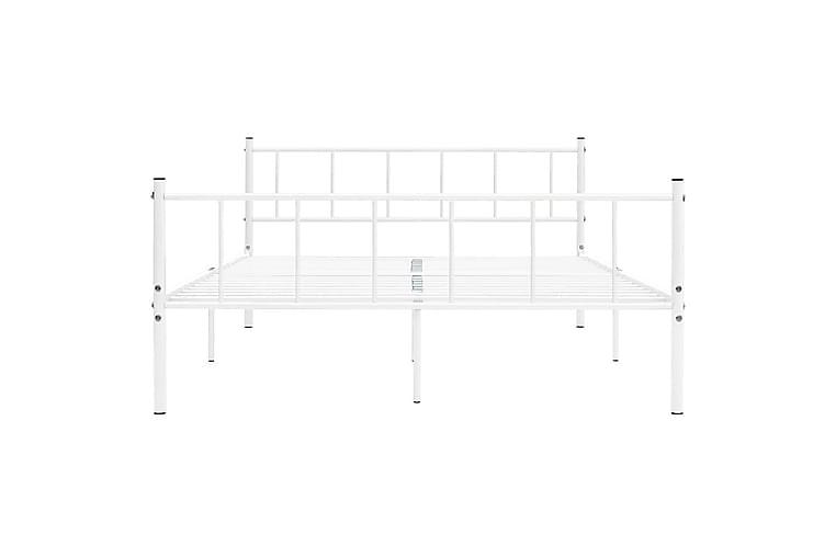 Sengeramme hvit metall 180x200 cm - Møbler - Senger - Sengeramme & sengestamme