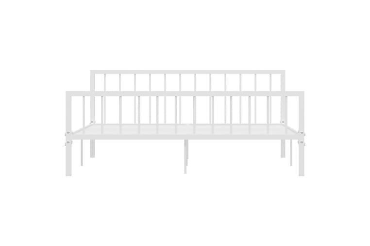 Sengeramme hvit metall 180x200 cm - Hvit - Møbler - Senger - Sengeramme & sengestamme