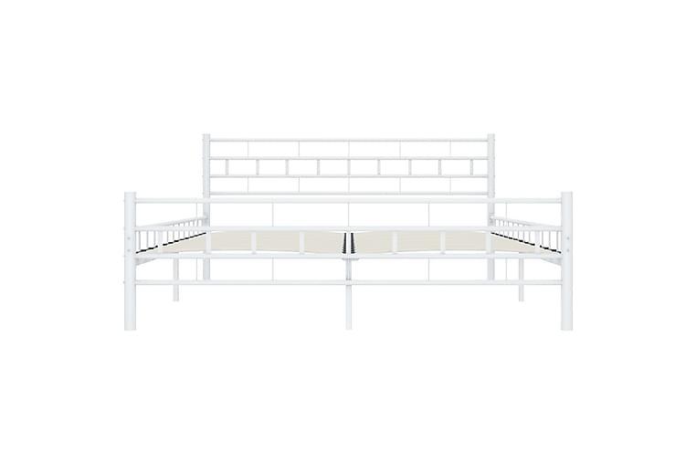 Sengeramme hvit metall 200x200 cm - Møbler - Senger - Sengeramme & sengestamme