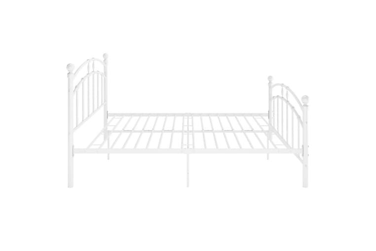 Sengeramme hvit metall 200x200 cm - Hvit - Møbler - Senger - Sengeramme & sengestamme
