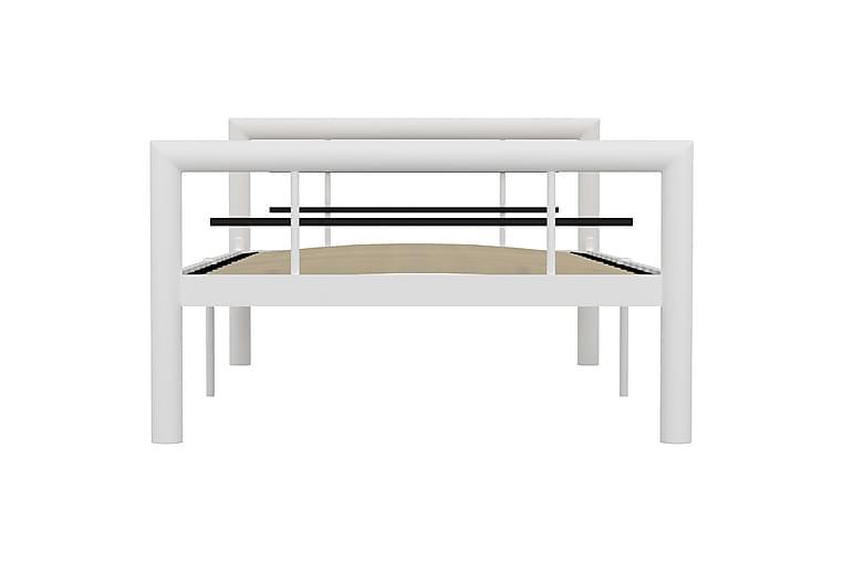 Sengeramme hvit og svart metall 90x200 cm - Hvit - Møbler - Senger - Sengeramme & sengestamme
