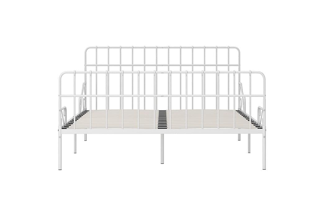 Sengeramme med spilebase hvit metall 180x200 cm - Møbler - Senger - Sengeramme & sengestamme