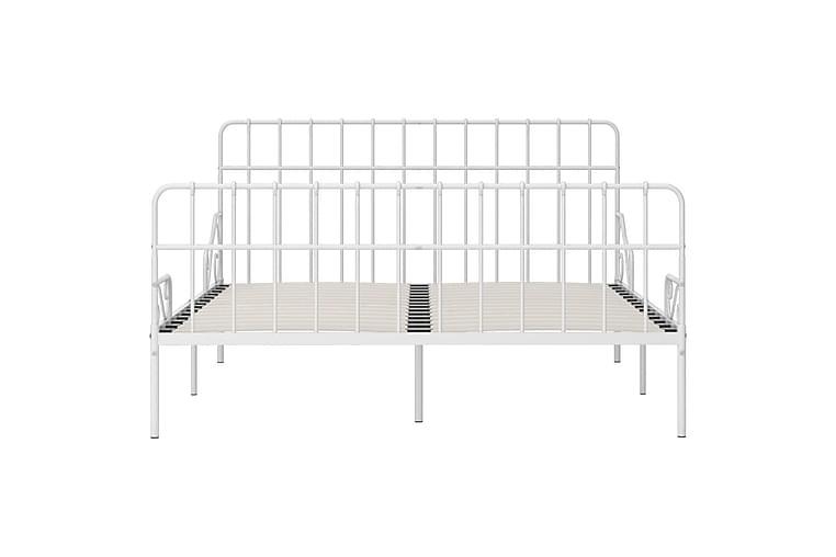 Sengeramme med spilebase hvit metall 200x200 cm - Møbler - Senger - Sengeramme & sengestamme