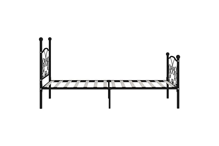 Sengeramme med spilebase svart metall 90x200 cm - Møbler - Senger - Sengeramme & sengestamme
