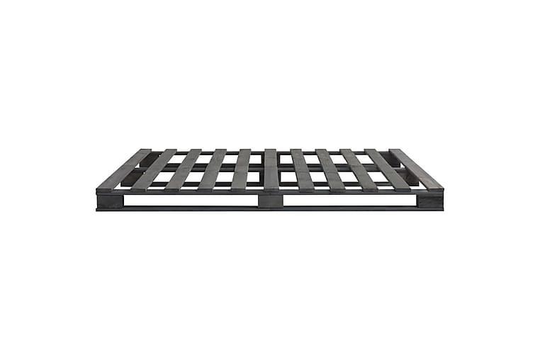 Sengeramme paller grå heltre furu 200x200 cm - Grå - Møbler - Senger - Sengeramme & sengestamme