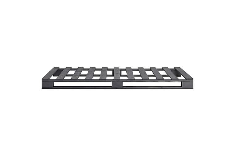 Sengeramme paller grå heltre furu 90x200 cm - Grå - Møbler - Senger - Sengeramme & sengestamme