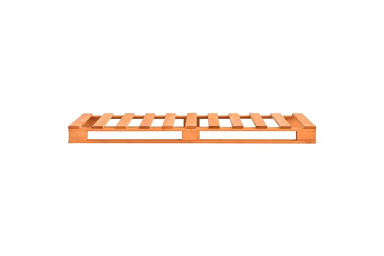 Sengeramme paller heltre furu 100x200 cm brun - Brun - Møbler - Senger - Sengeramme & sengestamme