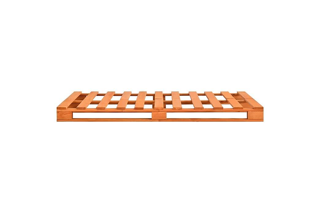 Sengeramme paller heltre furu 120x200 cm brun - Brun - Møbler - Senger - Sengeramme & sengestamme