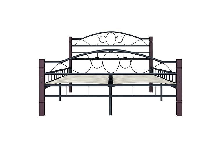 Sengeramme svart metall 120x200 cm - Møbler - Senger - Sengeramme & sengestamme