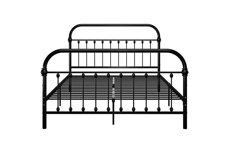 Sengeramme svart metall 160x200 cm - Svart - Møbler - Senger - Sengeramme & sengestamme
