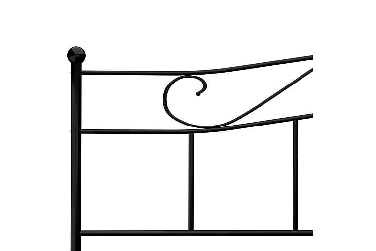 Sengeramme svart metall 180x200 cm - Svart - Møbler - Senger - Sengeramme & sengestamme