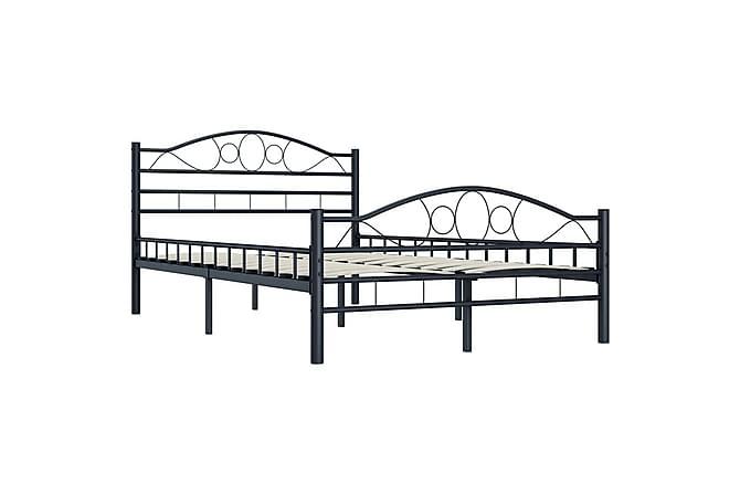 Sengeramme svart stål 120x200 cm - Møbler - Senger - Sengeramme & sengestamme