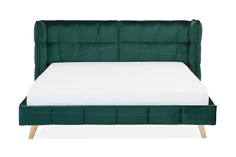 Senlis Dobbeltseng 160 | 200 cm - Grønn - Møbler - Senger - Sengeramme & sengestamme