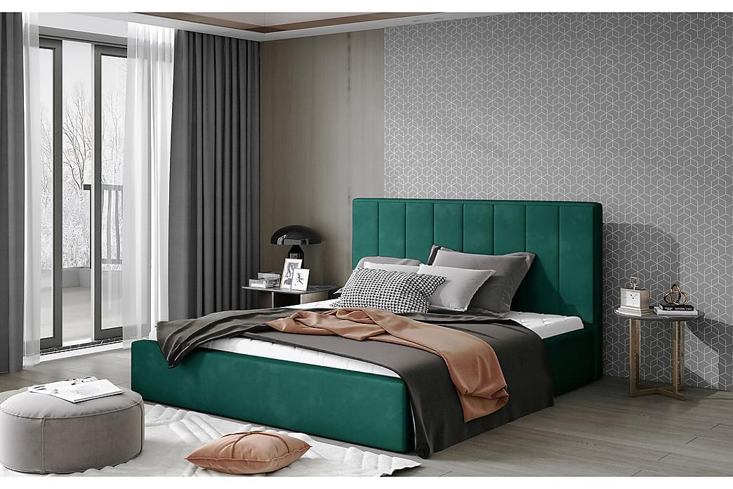 Sibculo Sengeramme 140x200 cm - Grønn - Møbler - Senger - Sengeramme & sengestamme