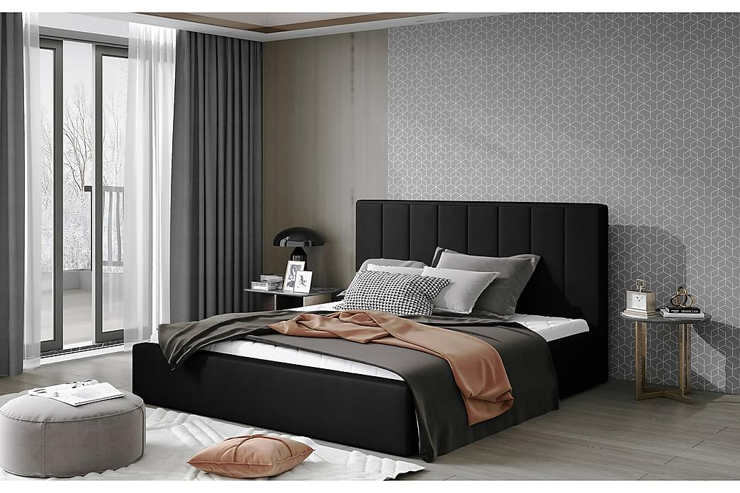 Sibculo Sengeramme 140x200 cm - Svart - Møbler - Senger - Sengeramme & sengestamme