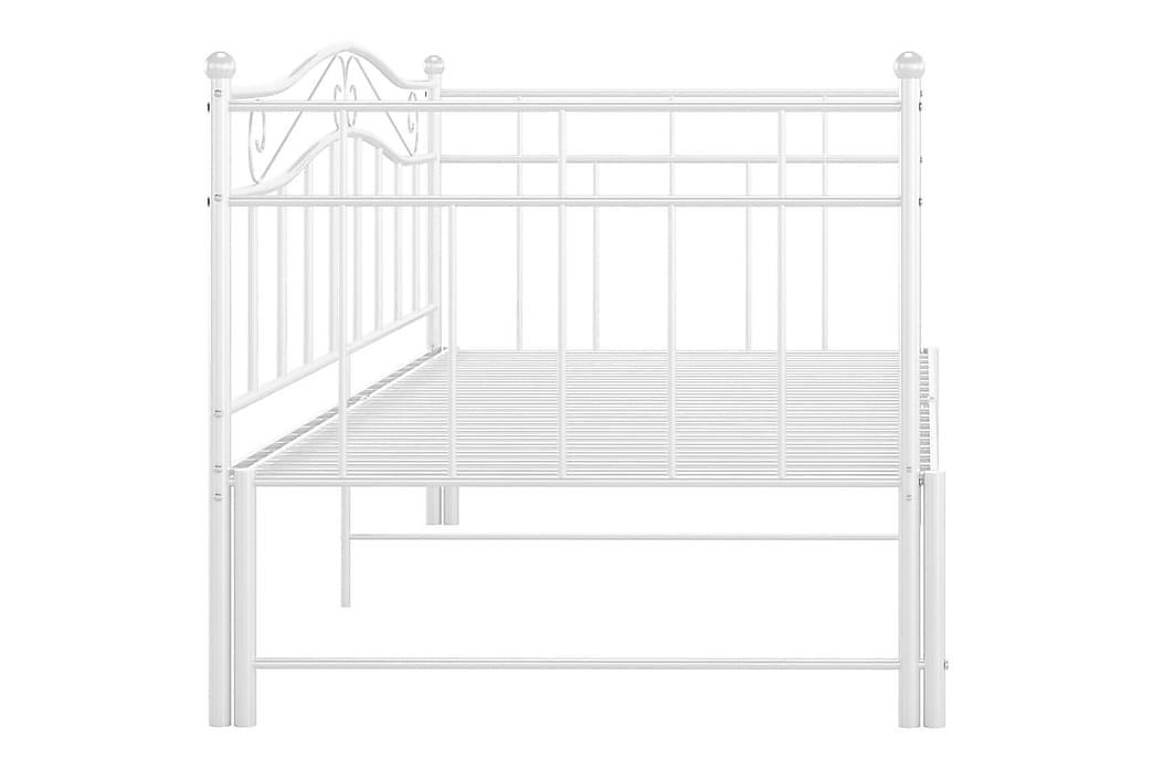 Uttrekkbar ramme til sovesofa hvit metall 90x200 cm - Hvit - Møbler - Senger - Sengeramme & sengestamme