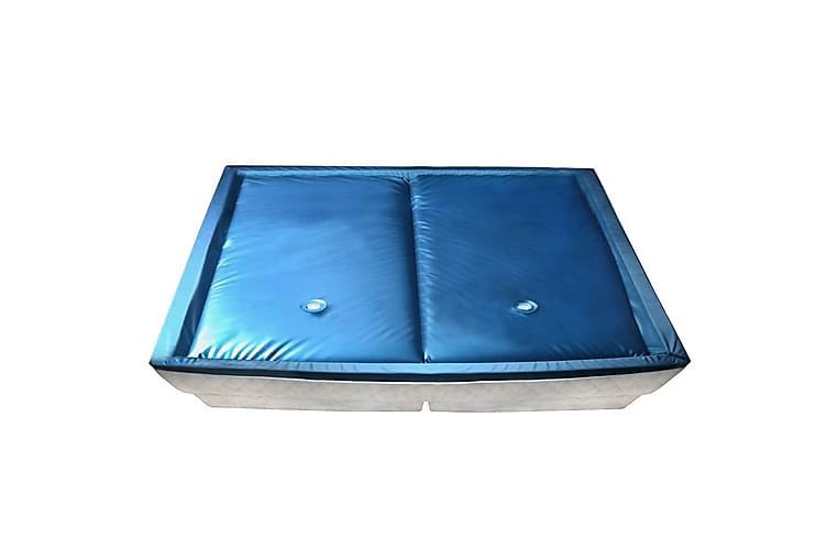 Dobbel vannmadrass med innerlag og avdeler 200x220 cm F5 - Blå - Møbler - Senger - Sengetilbehør