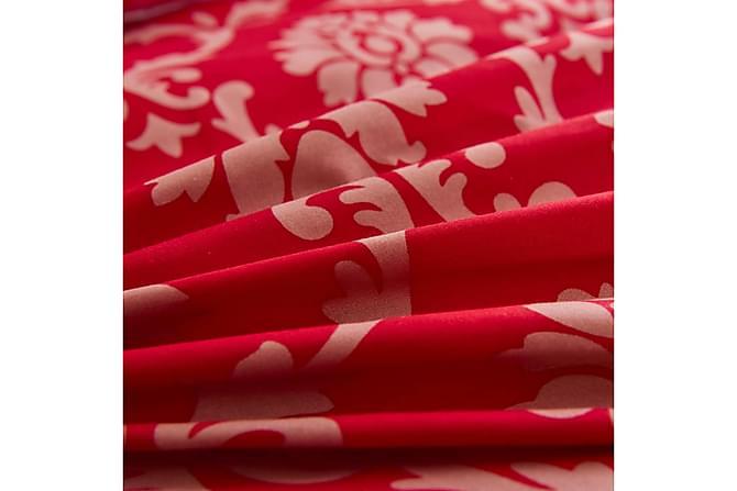 Thaisa Sengesett 2-deler 135x200/80x80 cm Striper - Rød - Møbler - Senger - Sengetilbehør