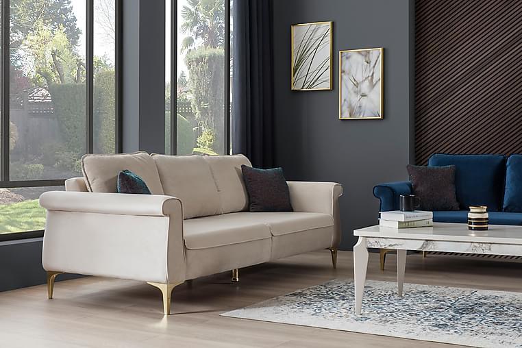 Camlica 3-seters Sofa - Kremhvit/Plastben - Møbler - Sofaer - 2-4-seters sofaer