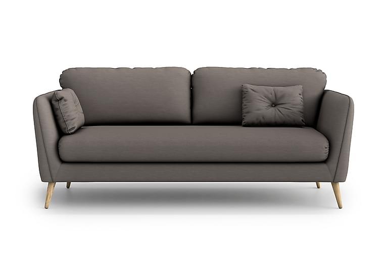 Claravik 3-seter Sofa - Grå - Møbler - Sofaer - 2-4-seters sofaer