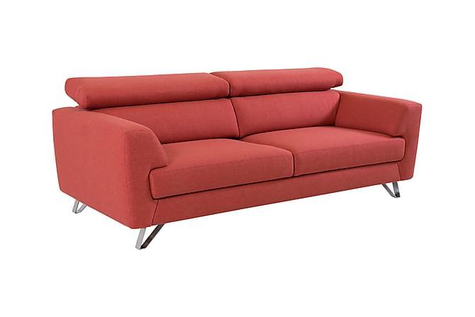 Cozma 3-seters Sofa - Rød - Møbler - Sofaer - 2-4-seters sofaer