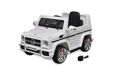 Elektrisk barnebil Mercedes Benz G65 SUV 2 motorer hvit