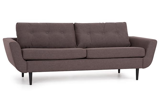 Esther 3-seters Sofa - Brun/Svart - Møbler - Sofaer - 2-4-seters sofaer