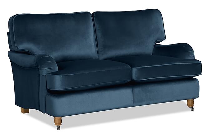 Howard Deluxe 2-seter Fløyelssofa - Mørkeblå - Møbler - Sofaer - 2-4-seters sofaer