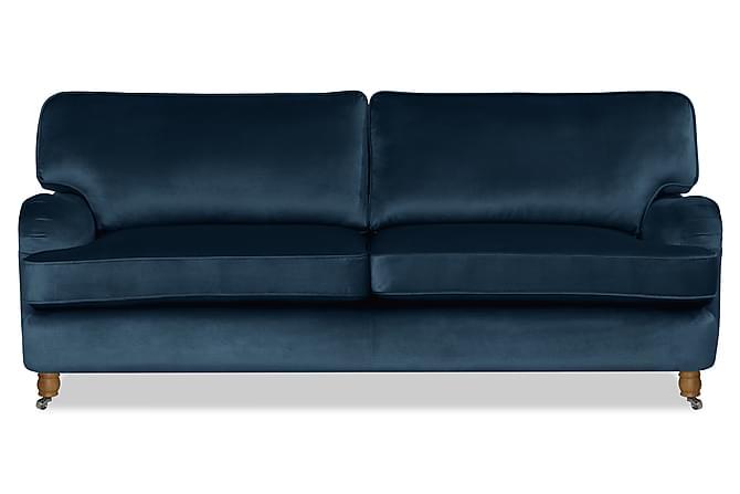 Howard Deluxe 3-seter Fløyelssofa - Mørkeblå - Møbler - Sofaer - 2-4-seters sofaer