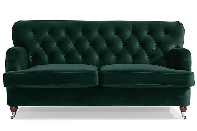 Howard Riviera 2-seters Sofa Fløyel - Mørkegrønn - Møbler - Sofaer - 2-4-seters sofaer