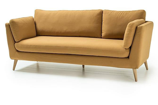 Janella 3-seter Sofa - Gul - Møbler - Sofaer - 2-4-seters sofaer
