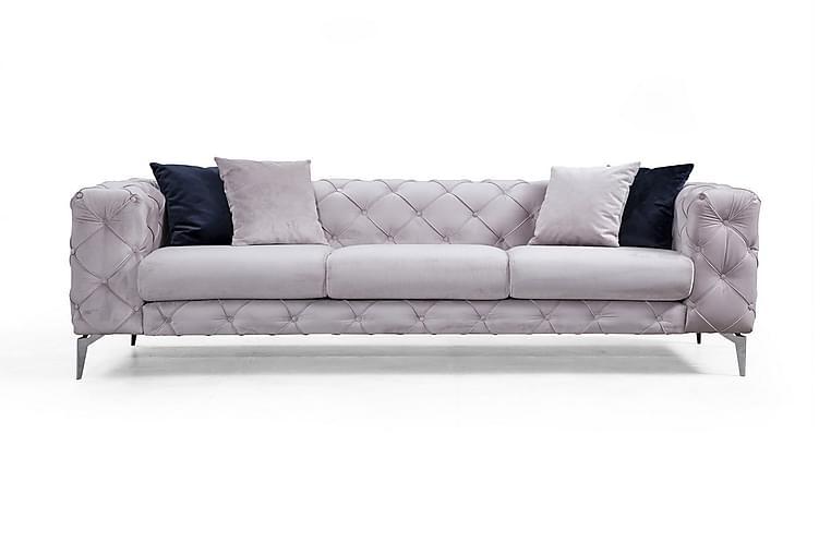 Mezonzo 3-seter Sofa - Lysegrå - Møbler - Sofaer - 2-4-seters sofaer