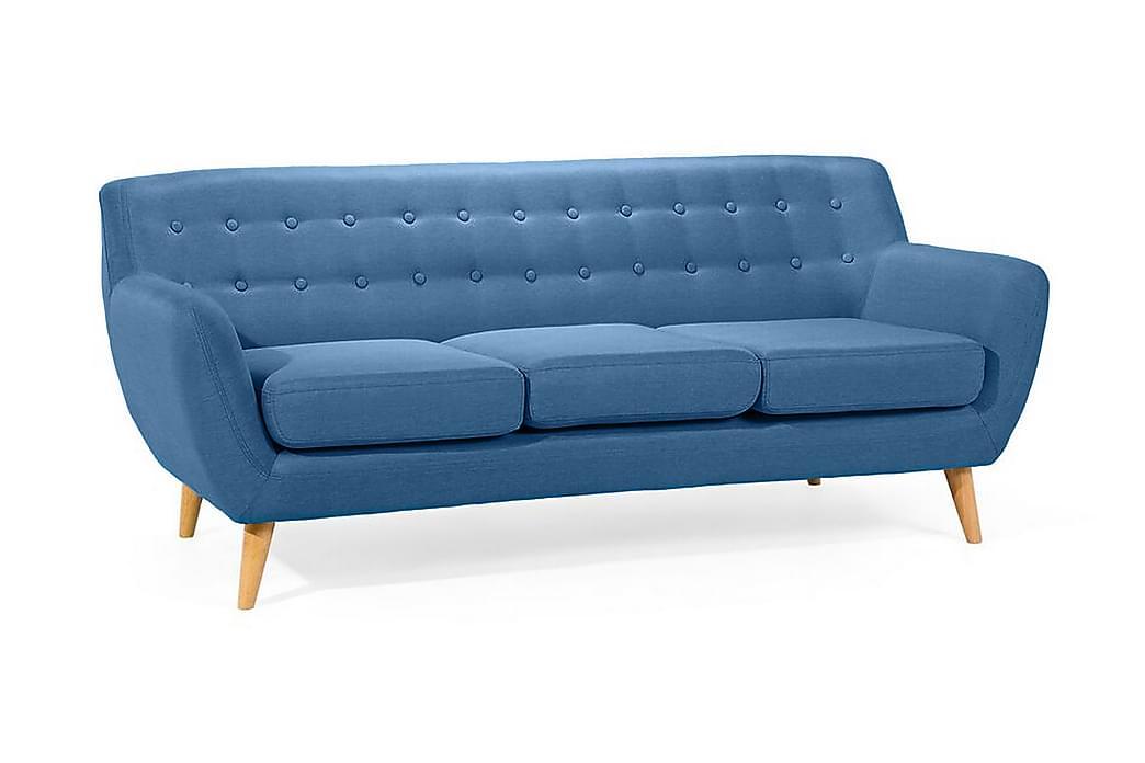 Motala Sofa 3-seter - Blå - Møbler - Sofaer - 2-4-seters sofaer