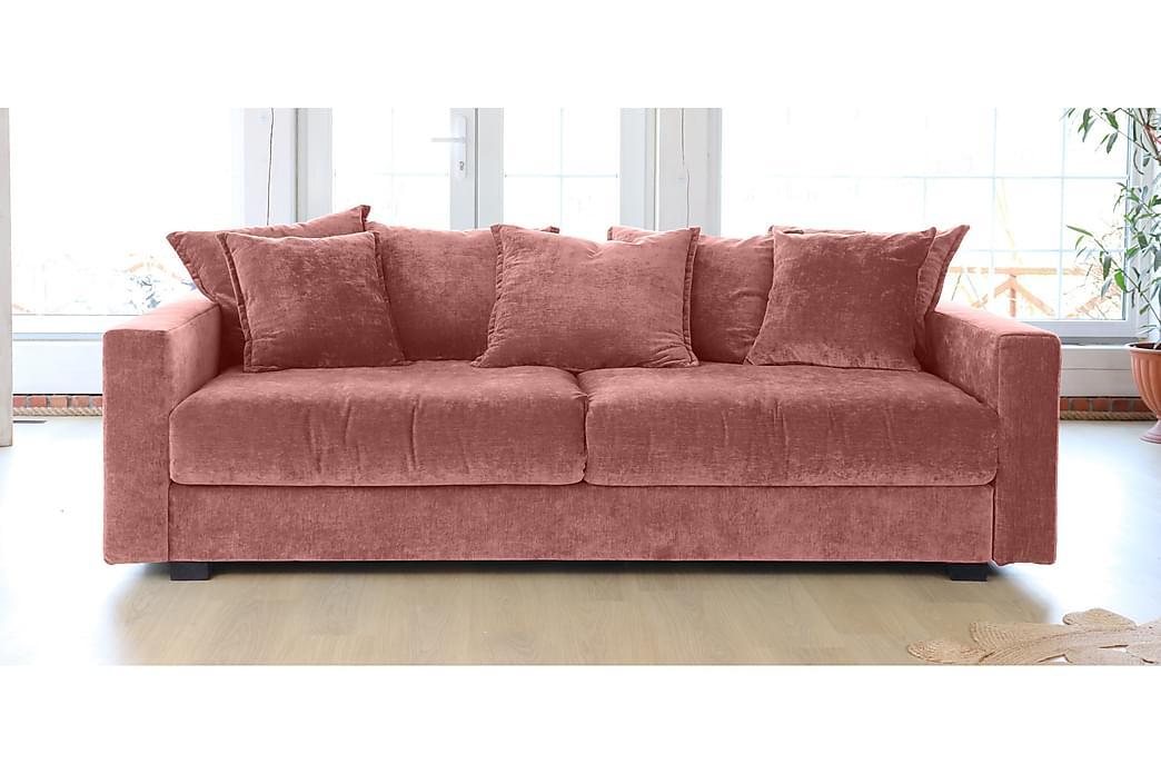 Natick 3-seters Sofa Sovbar - Rosa/Svart - Møbler - Sofaer - 2-4-seters sofaer
