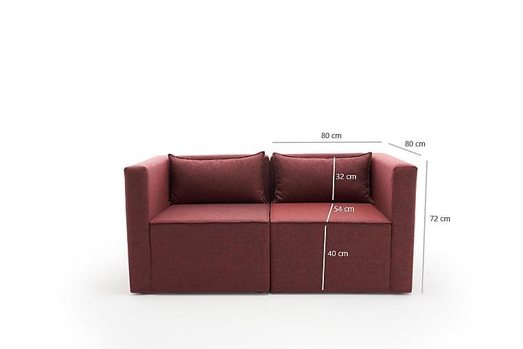 Plus 2-seters Modulsofa - Rød - Møbler - Sofaer - 2-4-seters sofaer