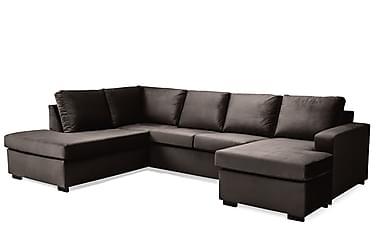 Crazy U-sofa Large Divan Høyre Fløyel