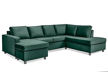 Crazy U-sofa Large Divan Venstre Fløyel