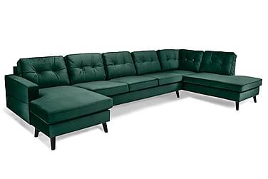 Monroe U-sofa Large med Divan Venstre Fløyel