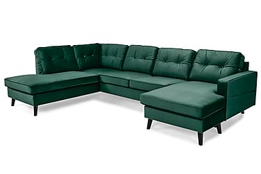 Monroe U-sofa med Divan Høyre Fløyel
