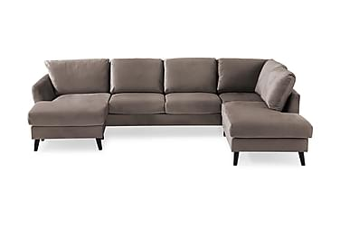 Trend U-sofa med Divan Venstre Fløyel